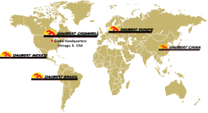 Daubert Cromwell global locations map