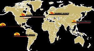 Daubert Cromwell global locations map